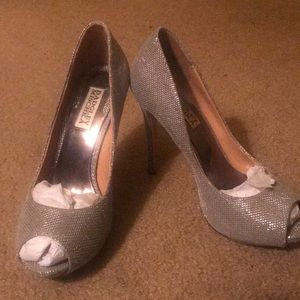 Bradley Mischa Silver Heels- wore One time!
